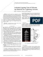 Artificial Accelerated Ageing Test of Silicone Rubber Housing Material for Lightning Arrester