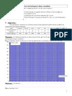 Series Statistiques a Deux Variables