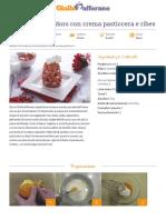 Ricetta Alberelli Di Pandoro Con Crema Pasticcera e Ribes