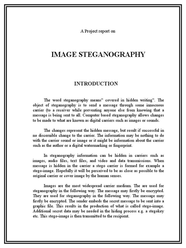 Steganography | Feasibility Study | Redes sociales y digitales