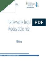 Redevable Légal, Redevable Réel Notions