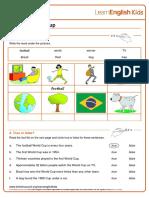 Reading Practice Football World Cup Worksheet v2