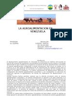 LA AGROALIMENTACION EN                                VENEZUELA