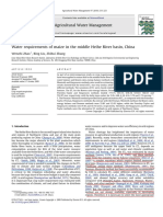 Water Requirements of Maize in the Middle Heihe River Basin, China