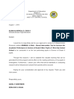 Action Reserach Request Letter
