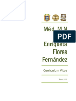 Curriculum Méd. y MN. María E. Flores Fernández