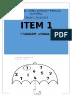 ITEM 1- instrumen menulis LINUS