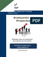Evaluacion de Proyectos Tercera Unidad