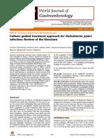 Culture guided treatment of h pylori