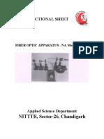 NA of Optical Fibers- FO Apparatus