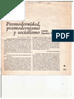 Posmodernidad, Posmodernismo y Socialismo - Adolfo Sánchez Vázquez