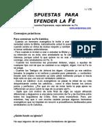 Respuestas Para Defender La Fe CUADERNILLO