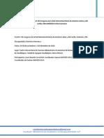 Informe Participación en El VIII Congreso de La Red Interuniversitaria de América Latina y Del Caribe, MED-USAC.