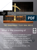 Prevention of Oppression & Mismanagement - Group04 - Sec.G - LAB2011 - IMTG