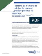 El Sistema de Nombre de Dominios de Internet Explicado Para Los No Expertos