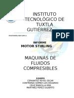 Reporte de Actividades Motor Stirling