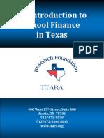 An Introduction to School Finance in Texas TTARA