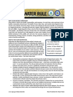 EPA Clean Water Fact Sheet -- backed up EPA doc -- Summary Final 1