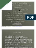 Microsoft PowerPoint - Concepto de Acumetría