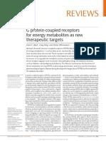 G Receptores Acoplados a La Proteína de Metabolitos Energéticos Como Nuevas Dianas Terapéuticas