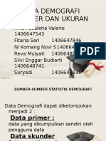Sumber Data Dan Ukuran Demografi