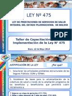 Presentacion Ley Nro 475