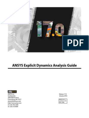 ANSYS Explicit Dynamics Analysis Guide | Strength Of