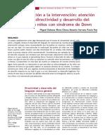 De la evaluaciòn a la intervenciòn = atenciòn conjunta, directividad y desarrollo del lenguaje en niños con sìndrome de down.pdf