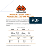 Product Data Sheet for Alumnium 1100 H 12