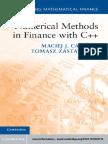 (Mastering Mathematical Finance) Maciej J. Capiński, Tomasz Zastawniak-Numerical Methods in Finance with C++-Cambridge University Press (2012)
