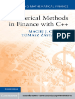 (Mastering Mathematical Finance) Maciej J. Capiński, Tomasz Zastawniak-Numerical Methods in Finance with C++-Cambridge University Press (2012)