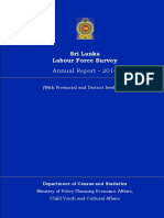 Labour Force Survey 2014 Sri Lanka
