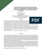 Analisis Struktur Geologi Jalur Kali Watupuru Dan Kali Songgo