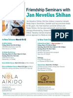 Jan Nevelius Shihan Friendship Seminars in NOLA and NYC March 2017 Flyer