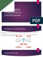 4.- Hemorragias, Coagulación y Transfusiones