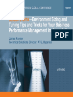 Environment Sizing and Tuning Tips and Tricks for Your Business Performance Management Implementation