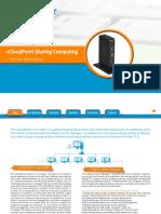VCloudPoint Sharing Computing Solution Data Sheet