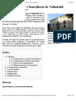 Real Audiencia y Chancillería de Valladolid - Wikipedia, la enciclopedia libre