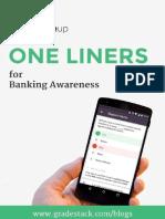 One Liner Updates Banking Awareness SBI Clerk Mains1