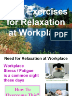Relaxation Techniques at Workplace