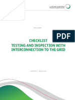 Checklist Testing and Inspection With Interconnection-Version 1 0 August 2015