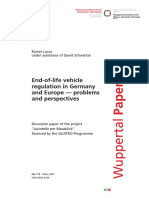 End of Life Vehicle Program in German and Europe