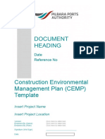 Construction Environmental Management Plan CEMP Template{A334171}