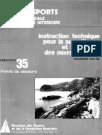 Instruction Technique Pour La Surveillance Et l'Entretien Des Ouvrages d'Art 1979