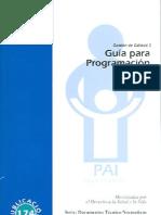 Guía para Programación del PAI