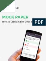 SBI Clerk Mains Mock Paper