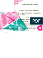 College Post-Inspection Quality Improvement Plan