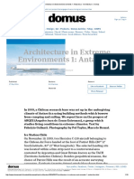 Architecture in Extreme Environments  Antarctica - Architecture - Domus