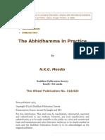 The Abhidhamma in Practice - N.K.G. Mendis