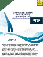 Tower Car Parking Manufacturer India